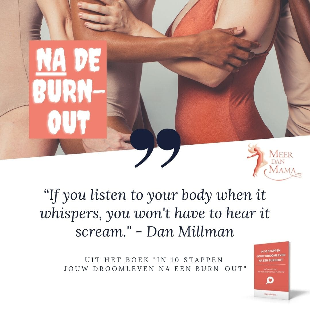 If you listen to your body when it whispers, you won't have to hear it scream